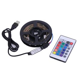 Luzes de volta da tv on-line-Novo 1M / 2M / 3M / 4M Baixo Consumo de Energia 5050 RGB USB LED Strip Light 4PIN Super Bright TV Back String Light Kits