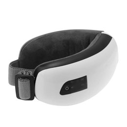 Wholesale magnetic therapy eye massager - Electric Eye Care Massager Eye Mask with Heating, Vibration and Air Pressure Temple Massage Headache Therapy Machine