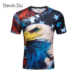 Wholesale Wholesale Anime Fashion Clothes - Wholesale-Anime Devin Du 3D Print T Shirt Summer Tops Cartoon Eagle Tee Fashion Unisex Men's T Shirt Brand Clothing Plus Size Dropship