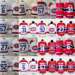 ab36097affa Mens 31 Carey Price 2018 Centennial Classic Montreal Canadiens Jersey 6  Shea Weber 11 Brendan Gallagher 67 Max Pacioretty 92 Jonathan Drouin