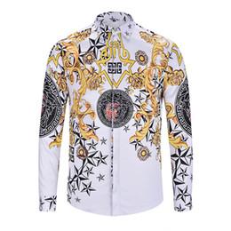 2018 outono moda de alta qualidade colar de abelha bordado camisa dos homens marca de luxo de manga longa de algodão camisa casual