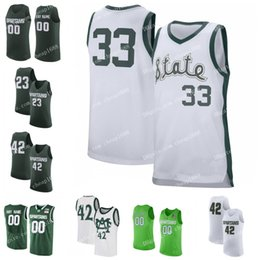 NCAA Michigan State Spartans ST 41 Conner George 25 Kenny Goins 11 Aaron  Henry 10 Jack Hoiberg Stitched MAC College Basketball Jersey michigan state  ... 7dc095890