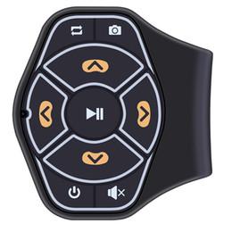 iphone bluetooth carro acessórios Desconto Handfree bluetooth car kit volante do carro controle remoto música receptor de áudio adaptador para iphone car acessórios