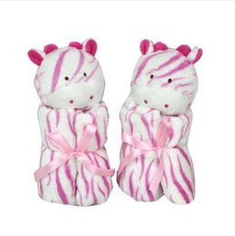 Wholesale deer plush doll - Top 33cm*33cm Baby Toys Deer Scarf Handkerchief appease Towel Rattles Crap Doll Gift For Soothe Calm Towel Educational Plush Toy