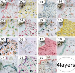infant boy bath Promo Codes - Unicorn Mermaid 4Layer Muslin Bamboo Cotton Air Condition Blanket Thick Baby Swaddles Wrap Soft Newborn Blankets Bath Gauze Infant Play Mat