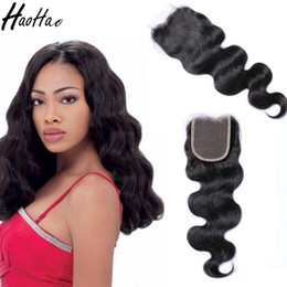 Wholesale Natural India Hair - Brazilian Virgin Human Hair 4x4 Lace Closure 8-26 Inch Peruvian Malaysian India Hair Swiss Lace Customized Free Shipping