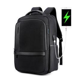 Canada Anti vol antivol hommes 15.6 Sac à dos pour ordinateur portable Sac à dos en nylon pour hommes occasionnels USB charge Voyage Sac à dos avec dragonne Offre
