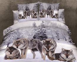 Wholesale Lion King Bedding - hot sale 100%cotton 3D animal leopard rose tiger wolf lion bedding bed sheet set bedclothes duvet cover sets bedding set
