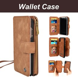 Wholesale multifunction case - For SAMSUNG s8 s8+ s9 s9+ note 8 Slim Wallet Case Flip Phone Cases Leather Wallet Multifunction Wallet Cover Card Slot For iPhone X 7 8