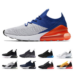 Wholesale b bones - 2018 270 shoe Flair Triple Black White men Running Shoes Hot Punch Photo racer blue Teal Light Bone tiger 270s sports trainers sneakers