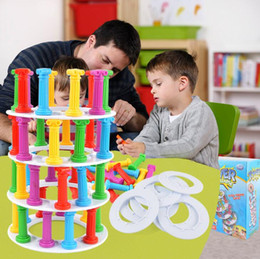 Wholesale Puzzles Board Games - Hot toy tower collapse suck stick board game punishment children puzzle fun toys WJ 01