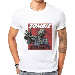 2020 camisetas divertidas únicas Ropa de hombre Unique Funny Zombie Men T Shirt Tops Algodón Casual Fashion Print Man Camiseta de alta calidad Short Sleeve Tee Shirt rebajas camisetas divertidas únicas