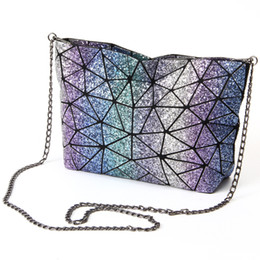 Wholesale Over Shoulder Bags - Starry Sky New BaoBao Bag Women chain Lightnig Luminous Geometry Women Shoulder Bags Plain Folding Messenger Bag bolso baobao
