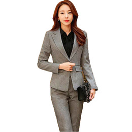 Корейские юбки онлайн-Korean Professional suit women's suits Blazer jacket+trouser+skirt+shirt 4,3,2piece sets blue office suits for women blazer set