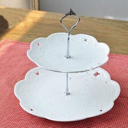 Wholesale Cake Stand Fittings Wholesale - Wholesale-Hot Sale!!!1 Set 2 or 3 Tier Cake Plate Stand Handle Crown Fitting Metal Wedding Party