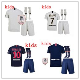 2647ed83e 7 MBAPPE 18 19 PSG Soccer Jersey kids KIT DANI ALVES 2018 2019 psg home  away CAVANI VERRATTI DI MARIA Football Shirts