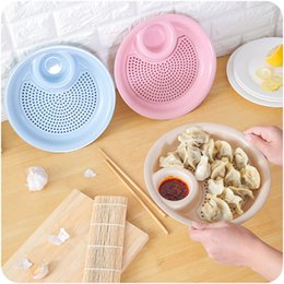Wholesale Dry Dishes - Double Deck Dumpling Plate With Seasoning Grid Creative Design Fruit Food Dishes Quick Dry The Food Kitchen Useful Tools New 2 6ds Z