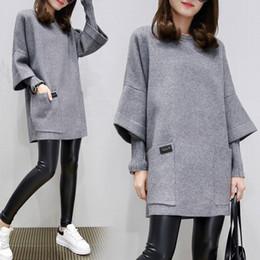 2018 Moda nuove donne a maglia a maniche lunghe vestito casuale maglione di  lana sciolto abito autunno primavera inverno dress 72a68eccd01