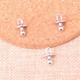 chupeta de prata Desconto 100 pcs Antique prata bebê chupeta binky mordedor Encantos Pingente Fit Pulseiras Colar DIY Jóias De Metal Fazendo 13 * 10 * 10mm