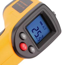 Argentina 1 Pz Laser Gm320 senza Contatto Pantalla LCD IR A Raggi Infrarossi Digital C / F Selezione Superficie Termometro Temperatura Por industria Uso Suministro