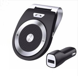 Wholesale handsfree radio - Bluetooth Car Kit Handsfree Noise Cancelling Bluetooth V4.1 Receiver Car Speakerphone Multipoint Clip Sun Visor for two Phones