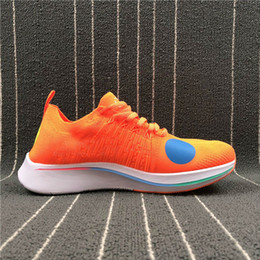 Wholesale fly leather - Discount 2018 Sale World Cup Zoom Fly Mercurial Fk Orange FOAM Men Women Running Breathable Sports Shoes With Box