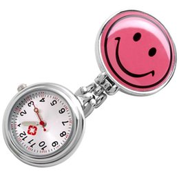 Enfermera mira clips online-Smile Face Clip Nurse Pendant Pocket Reloj de cuarzo Nuevo