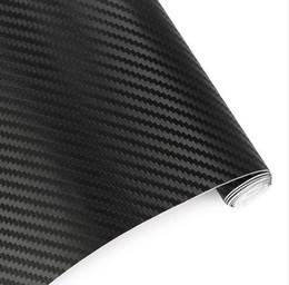 papel de embrulho de fibra de carbono Desconto 127 * 30 CM À Prova D 'Água Auto Adesivos 3D Folha De Filme De Vinil De Fibra De Carbono Envoltório Rolo Auto Car DIY Decoração Adesivo de Papel Carro Styling