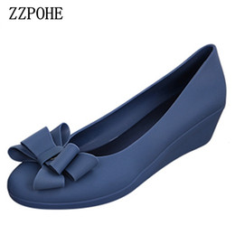 brown wedge pumps NZ - wholesale spring autumn new women fashion mid heels woman wedge single shoes Women Work Pumps Shoes free shipping