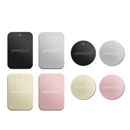2019 tavoletta magnetica Piastra metallica APPS2Car con adesivo 3M per telefoni con supporto magnetico per auto / tablet / supporto per GPS iPhone Color [4 Rectangular 4 Circle] tavoletta magnetica economici