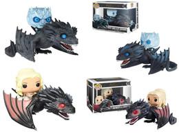 Funko exclusivo Pop of Thrones Figuras de Ação Dragão Negro Noite Rei Decoração Daenerys Brinquedos Presente Com Caixa de Fornecedores de marcação a laser