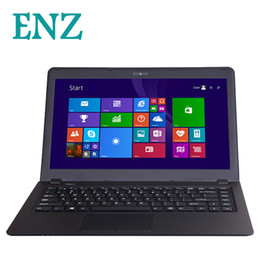 mini laptops Promo Codes - ENZ notebook B21 laptop 14.1inch 1920*1080 window 8 Intel Celeron N2840 Dual core Camera RJ-45 Wifi Bluetooth Mini HDMI computer