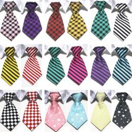 Imprima os dois lados on-line-Hot Moda Pet Supplies Gentleman Pet Impressão em ambos os lados Stripe Maré Pet Dog Tie Gravata Venda Direta Da Fábrica T7I583