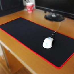 Pbpad Gaming Mouse Pad Bloqueo de borde Rojo / Negro Grosor de alta calidad de 5 mm más grueso Alfombrilla de ratón Alfombrilla de ratón Estera de tabla desde fabricantes