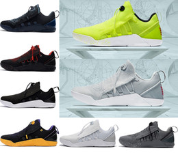 Wholesale Kobe Christmas - (with box) 2018 KOBE A.D. NXT Basketball Shoes KB 12 Mambacurial Mens Sneakers Sports Running Shoes Oreo black white Fluorescence Eur 40-46