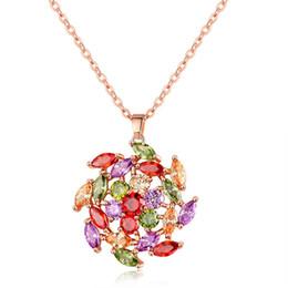 Nova strass feminino colar de vento colar de jóias de cobre hipoalergênico zircão pingente de colar de presente cheap windmill necklace de Fornecedores de colar de moinho de vento