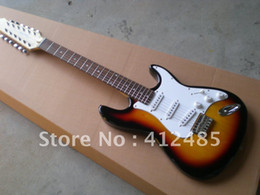 Wholesale Sunset Guitar - factory wholesale Free shipping New F ST stratocaster sunset color 12 string Electric Guitar in stock