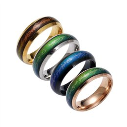 Wholesale man change - Lord of the rings jewelry fashion mood ring 2017 color woman men temperature change you reveal your inner feelings