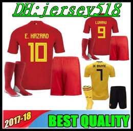 belgium kids jerseys 2018 belgium Home red BOYS football shirts LUKAKU  FELLAINI E.HAZARD KOMPANY DE BRUYNE Child kit Soccer Jersey 3303819af
