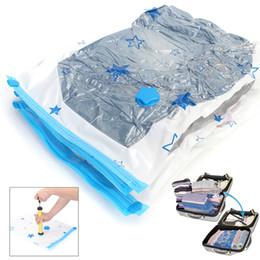 Sacchetti di compressione di abbigliamento online-Star Seal Vacuum Compression Bag Quilt Abbigliamento Compression Bag Space Saver Custodia trasparente da viaggio Travel Essential AAA45