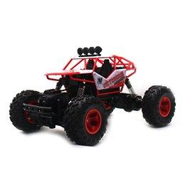 4wd rc carro elétrico on-line-2.4G 4WD Elétrico RC Carro Rock Crawler Controle Remoto Carros de Brinquedo No Rádio Controlado 4x4 Unidade RC Caminhão Brinquedos Para meninos 6255