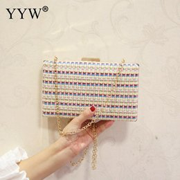 22d76e5d6f77 Women Straw Handbag Clutch Evening Bags Party Messenger Bags Simple Korean  Style Day Bag Female Lady Blue Pink Clutches