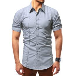 d203156e114 2018 New Design Men S Casual Shirt Breathable Casual Shirt Men Long Sleeve  Big Size Office Dress Shirts Men Camisa Masculina