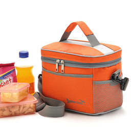 Wholesale Insulated Picnic - Portable Outdoor Lunch Bags Traveling Thermal Aluminum Foil Insulated Cotton Oxford Fabric Picnic Kettle Fresh Keeping NNA178