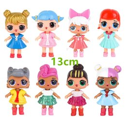 Wholesale lol brand - 4PCS 8 colors 13cm BIG LOL doll 13cm LOL Doll Dress Up Baby Dolls serie Toys For Girls figurines 2018 Brand new