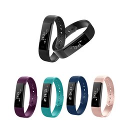 Wholesale Smart Vibration - ID115 Smart Bracelet Fitness Tracker Step Counter Activity Monitor Band Alarm Clock Vibration Wristband for iphone Android phone