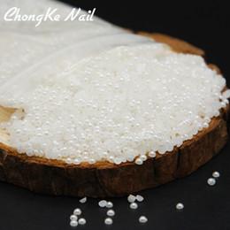 cuentas de gemas blancas Rebajas 1000 unids 2 mm 3 mm 4 mm brillante blanco / beige medio granos de perlas planas espalda plana gemas perlas de resina del arte del clavo de la joyería decoración de bricolaje