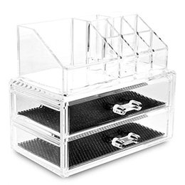 Wholesale clothes display stands - PHFU Clear Acrylic Lipstick Display Stand Holder Cosmetic Storage