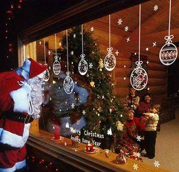 Produttori di palle di natale online-Adesivi statici in vetro per decorazioni natalizie Adesivi per festoni in vetro natalizio decorazioni natalizie