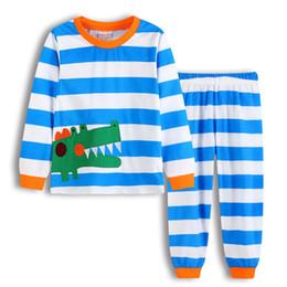Langärmelige nachthemden online-Neue Kinder Nachtwäsche Kinder warme Unterwäsche Anzüge Nachthemd Mädchen langärmelige Langarm Pyjamas Set 2-7 Jahre DF01